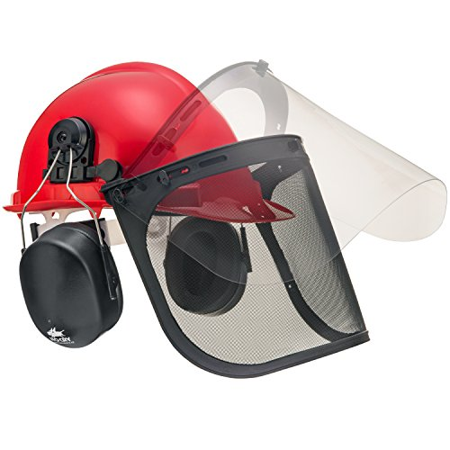 NoCry 6-in-1 Industrial Forestry Safety Helmet and Hearing Protection System with Two Protective (Gas Shield)