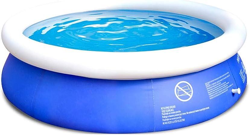 Inflable Piscina para Adultos de los niños, Ronda de PVC Piscina, Uso del hogar Blow Up Piscina, jardín Infantil Exterior Piscinas Azul,300 * 76CM: Amazon.es: Hogar