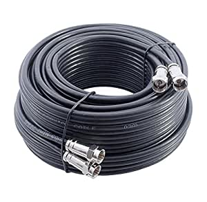 15m black twin satellite cable extension kit. Black Bedroom Furniture Sets. Home Design Ideas