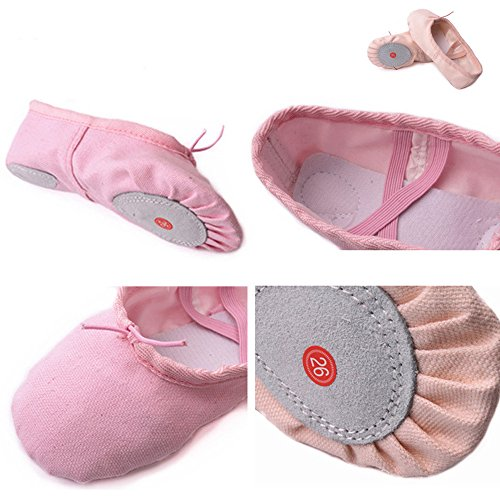 Flesh Children's Sizes amp; Ballet Classic Practise Yoga Flat Shoes Dance color Adult's ZEVONDA POx4S0