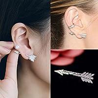 Creative 1PC Bow Arrow Crystal Ear Stud Womens Fashion Earrings Jewelry Gift