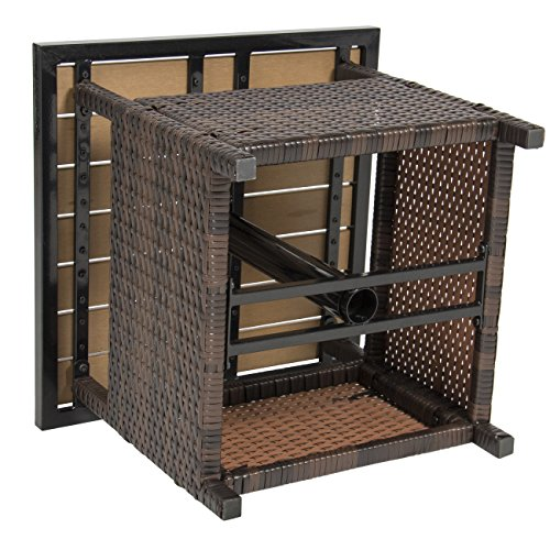 Best Choice Products Patio Umbrella Stand Wicker Rattan
