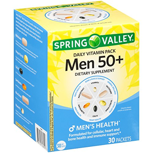 Spring Valley Men 50+ Daily Vitamin Pack Dietary Supplement 30 ct Box