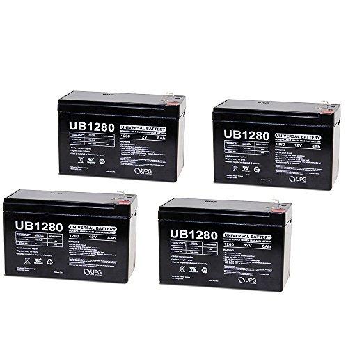 UB1280 F2 12V 8Ah APC SmartUPS 1400RM 2200RM3U Battery - 4 Pack by Universal Power Group