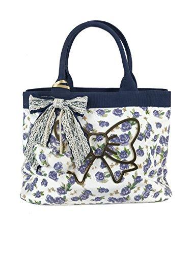 Atelier Fixdesign Canvas Shopping Bag FC7002 Lavender Flowers