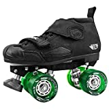 Crazy Skates DBX (Ne) Neon Roller Skates - with Green 96a Quake Slim Wheels (Eu37 / US M5-L6)