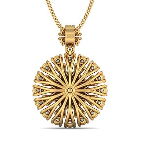 Or jaune 14K 1,66CT TW Round-cut-diamond (IJ | SI) Pendentif