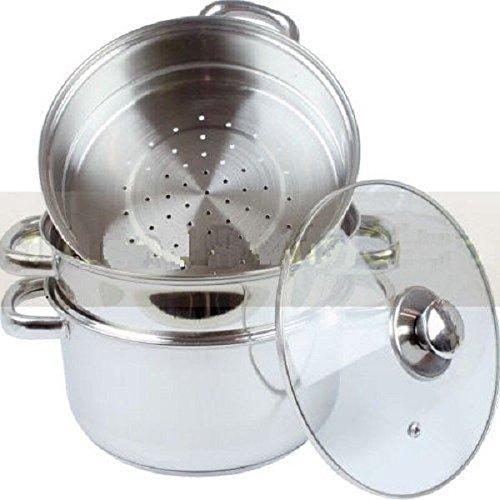 NUEVO 3 UDS ACERO INOXIDABLE vaporizador Cocina Juego pistones PAN COCINAR COMIDA CRISTAL TAPAS utensilios