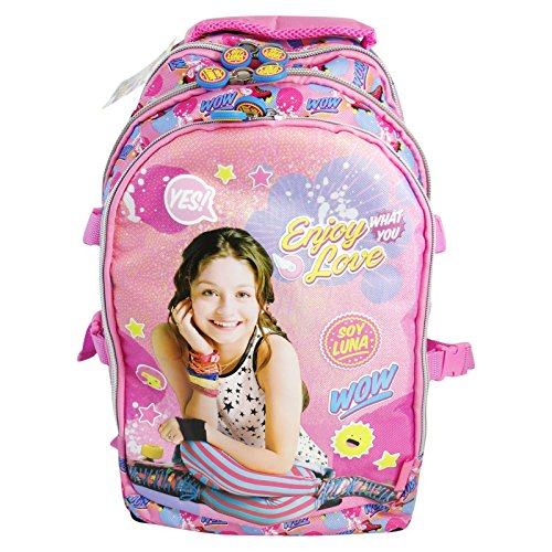 955e36a830f Disney Soy Luna Enjoy Love School Backpack with Wheels Trolley Children  Travel - Buy Online in UAE.