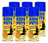 KIDS 'N' PETS Brand - INSTANT CARPET Aerosol Stain & Odor Remover 6 pack 14 fluid oz. (84 fluid ounces total)