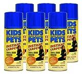 KIDS 'N' PETS Brand - INSTANT CARPET Aerosol Stain & Odor Remover 6 pack 14 fluid oz. (84 fluid ounces total)