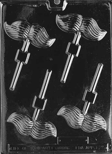 Mustache Lollipop Chocolate Mold - D025 - Includes Melting & Chocolate Molding Instructions