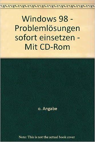 Rechercher ebook download Windows 98 - Problemlösungen