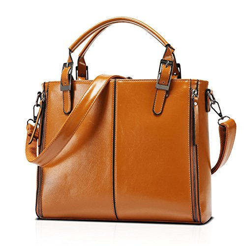 Kigurumi Classic - Grand sac à bandoulière pour femme brune