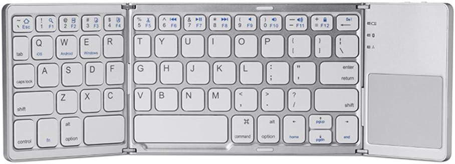 Teclado de silicona suave Teclado inalámbrico Bluetooth plegable, teclado portátil para iOS, Android, Windows, computadoras portátiles, Smart TV, tabletas, teléfonos inteligentes y más, (negro, platea: Amazon.es: Hogar