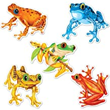 Beistle 54513 10-Pack Miniature Frog Cutouts, 41/2-Inch