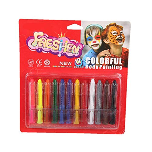 Tasefre Halloween Face Ghost Festival Crayons Body Painting Pigments Supplies Crayons]()