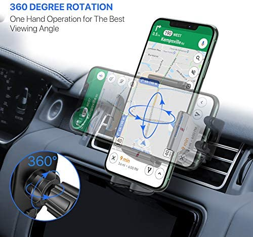 【2020 Upgraded】 Miracase Car Phone Mount, Air Vent Cell Phone Holder for Car, Universal Car Phone Holder Cradle Compatible with iPhone 11/11 Pro/11 Pro Max/XR/Xs/XS Max /8/7/6,Pixel,S10+ and More 5123Hstb3VL