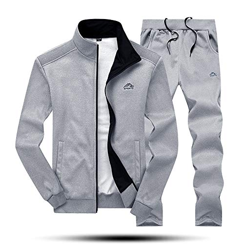 2c6cccb3e MAGNIVIT Men's Soccer Tracksuit Set Athletic-Fit Sweatsuits Top Pants Sets  Grey