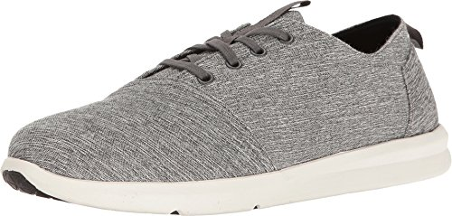 Forged Grips - TOMS Men's Del Rey Sneaker Forged Iron Grey Space-Dye Oxford
