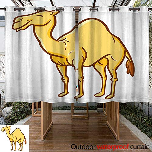 Standing Camel Outdoor Light - RenteriaDecor Outdoor Curtains for Patio Waterproof Great Camel Standing W108 x L72