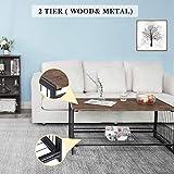 Folding Coffee Desk Industrial Wood Living Room