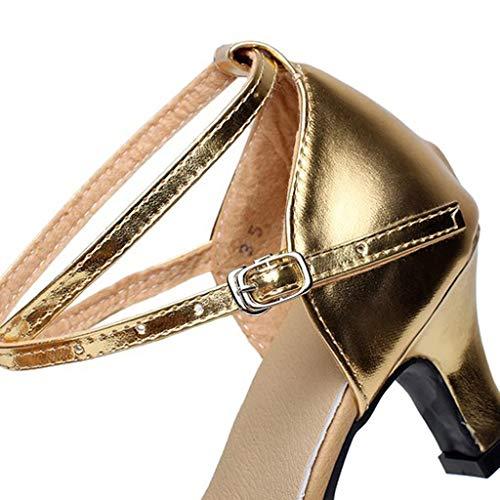 Scarpe Alti Comode Punta argento Sandali Di neri Mary Col Tacco Con Tacchi Estive Donna Elegante Oro Jane Chiusa Basse Gregge dorati 6wYFdq