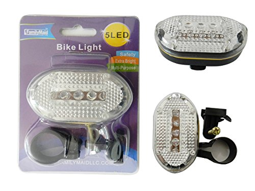 Bicycle Flashing Light, 5 LED Size: 3'' x 1.75'' , Case of 96