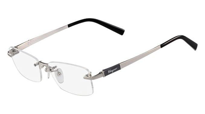 bc71ba36efd Amazon.com  Eyeglasses FERRAGAMO SF 2527 A 045 SILVER  Clothing