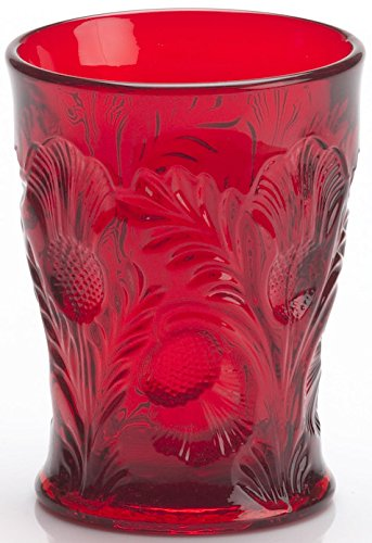 (Tumbler - Inverted Thistle - Mosser Glass - USA (Red))