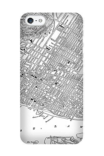 iPhone 4/4S Coque photo - Rétro carte Montreal Noir