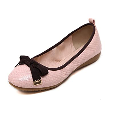 1TO9 Womens Bows Low-Cut Uppers Urethane Flats Shoes