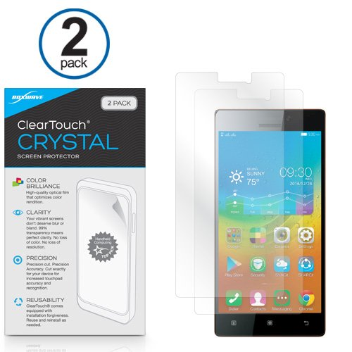 Lenovo Vibe X2 Screen Protector, BoxWave® [ClearTouch Crystal (2-Pack)] HD Film Skin - Shields From Scratches for Lenovo Vibe X2