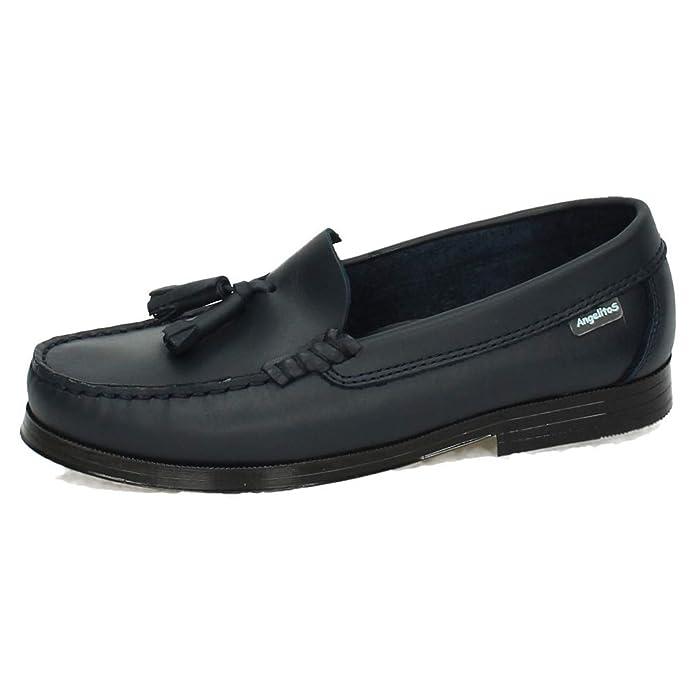 ANGELITOS 594 Mocasines DE Piel NIÑO Zapato COLEGIAL: Amazon.es: Zapatos y complementos