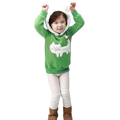 Anyren Baby Girls Boys Cartoon Hoodie Rabbit Warm Tops Children Clothes