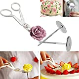 KingWo Piping Flower Scissors+Nail Icing Bake Cake Decorating Cupcake Pastry Tools Item Specifics: (B)