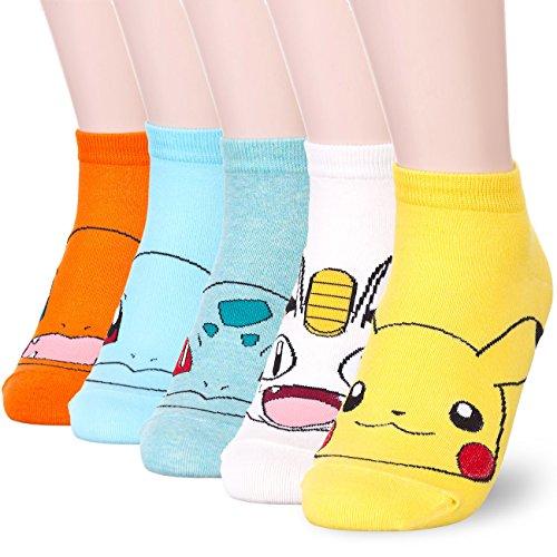 pokemon-character-print-socks-onesize-5-pairs