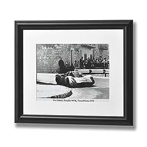 Hill Interiors - Lamina en blanco y negro de Vic Elford en Porsche (Talla Única/Blanco/Negro) (precio: 9,20€)