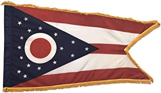 product image for 3x5' Ohio Indoor Flag with Pole Hem and Gold Ornamental Fringe