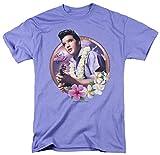 Elvis Presley Men's Luau King Classic T-shirt Medium Lavendar