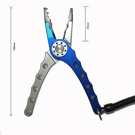 T Tocas Alicates de acero inoxidable, de 17,78 cm, ideal para pesca, corta sedales, incluye bolsa de nailon para el cinturón