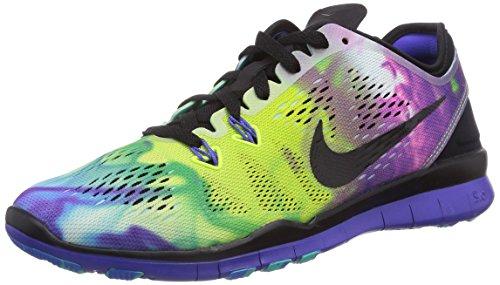 Nikefree 5,0 Tr Passen Druk 5 704 695, Unisex Volwassen Loopschoenen Meer Kleur (zwart / Zwart-violet Prsn Pht-bl)