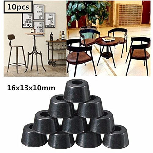 10pcs 16x13x10mm Rubber Chair Ferrule Anti Scratch Floor Table Feet Leg Protector