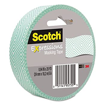 "Scotch - Expressions Masking Tape, .94"" x 20 yds, Mint Mosaic 3437P1 (DMi RL"