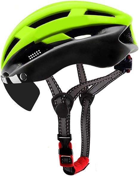 Casco Bicicleta YDHWWSH Casco De Ciclismo Ultraligero Lentes A ...