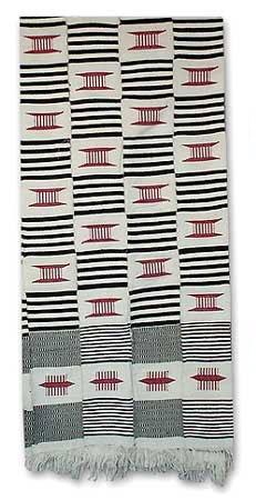 NOVICA Multicolor Kente Cloth Scarf, 'Seat of a King' by NOVICA