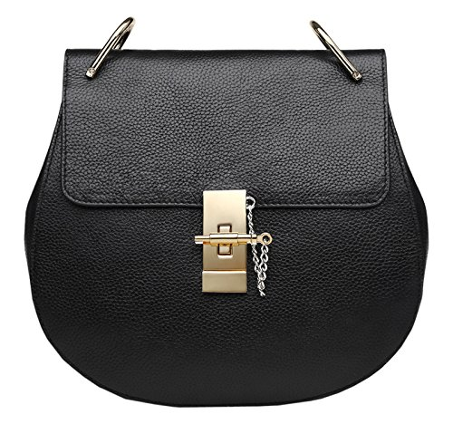 Cross Body Black Leather Genuine Bags Black Shoulder Bags Womens SAIERLONG Ladies Designer ZqURB
