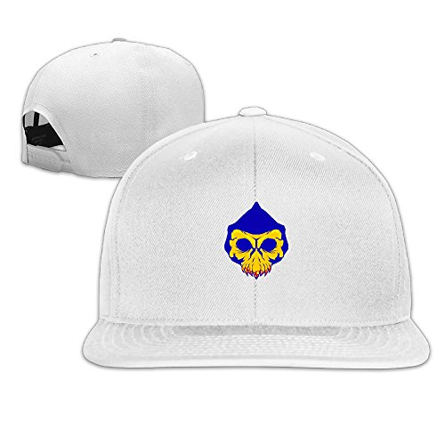 LBLOGITECH Skull Mask Solid Flat Baseball Caps Snapback Hat (Skull Bride Mask With Hair)
