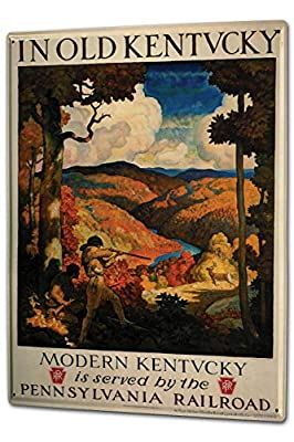 onepicebest Globetrotter Kentucky USA Vintage Tin Sign for Pub Bar Decorative Sign 12 X 16 inches
