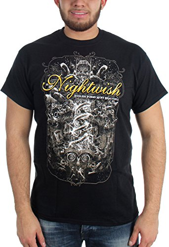 Nightwish - Mens Endless Forms Most Beautiful Tour Palladium T-Shirt, Size: Medium, Color: (Palladium T-shirt)